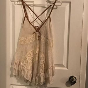 Free People Baby Doll Top